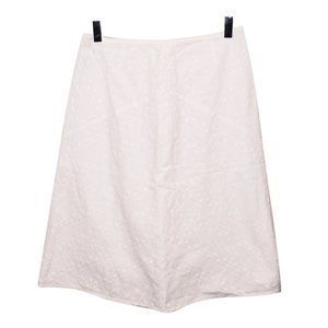 Broderie Anglais Lace Eyelet Skirt Sz 6